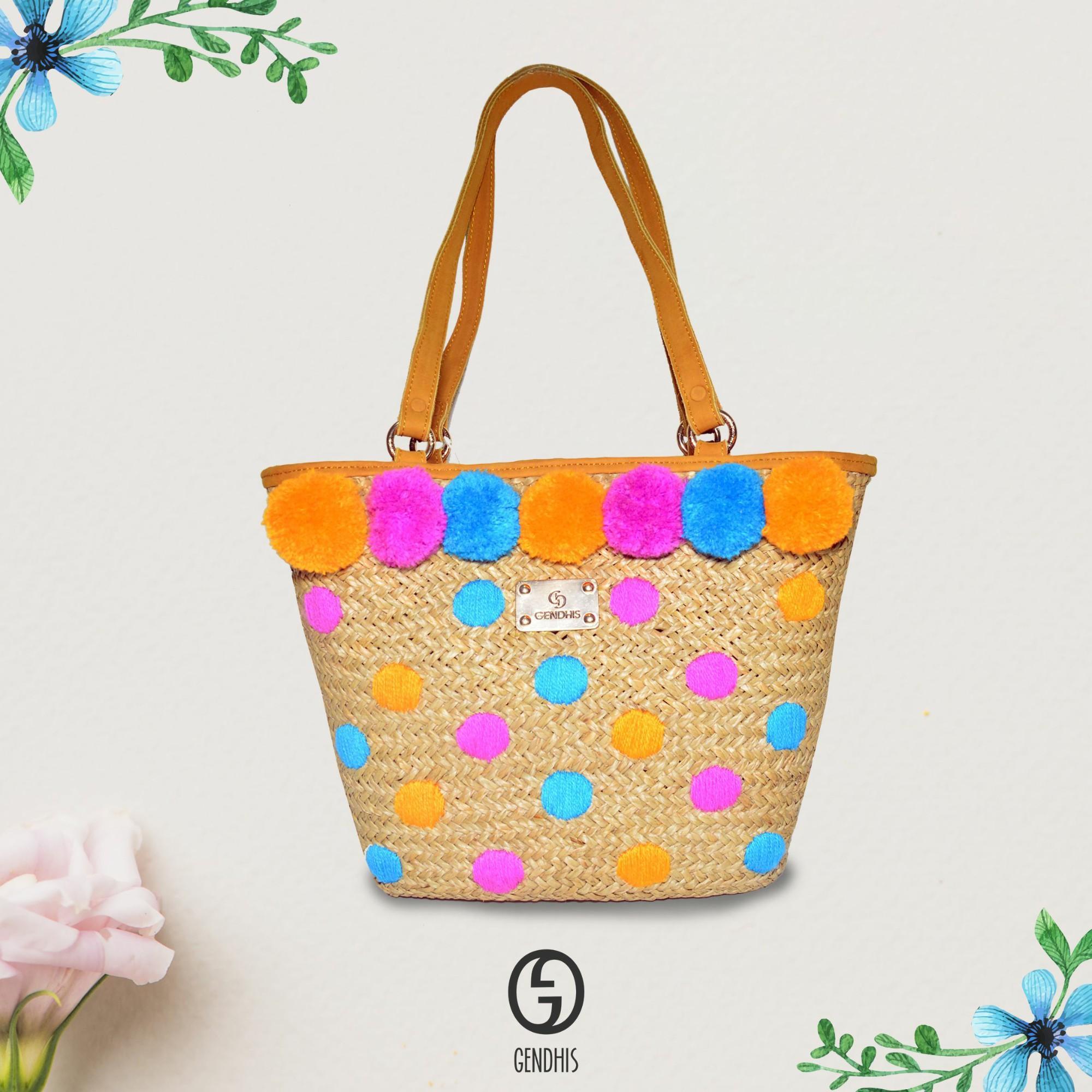 Tas Wanita Murah / Tote Bag / Tote Bag Wanita / Tas Tote Bag Watanda Orange GENDHIS original Tote Bag Tas Anyam Jogja