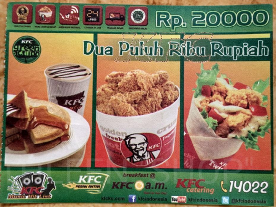 Voucher KFC 100 Ribu