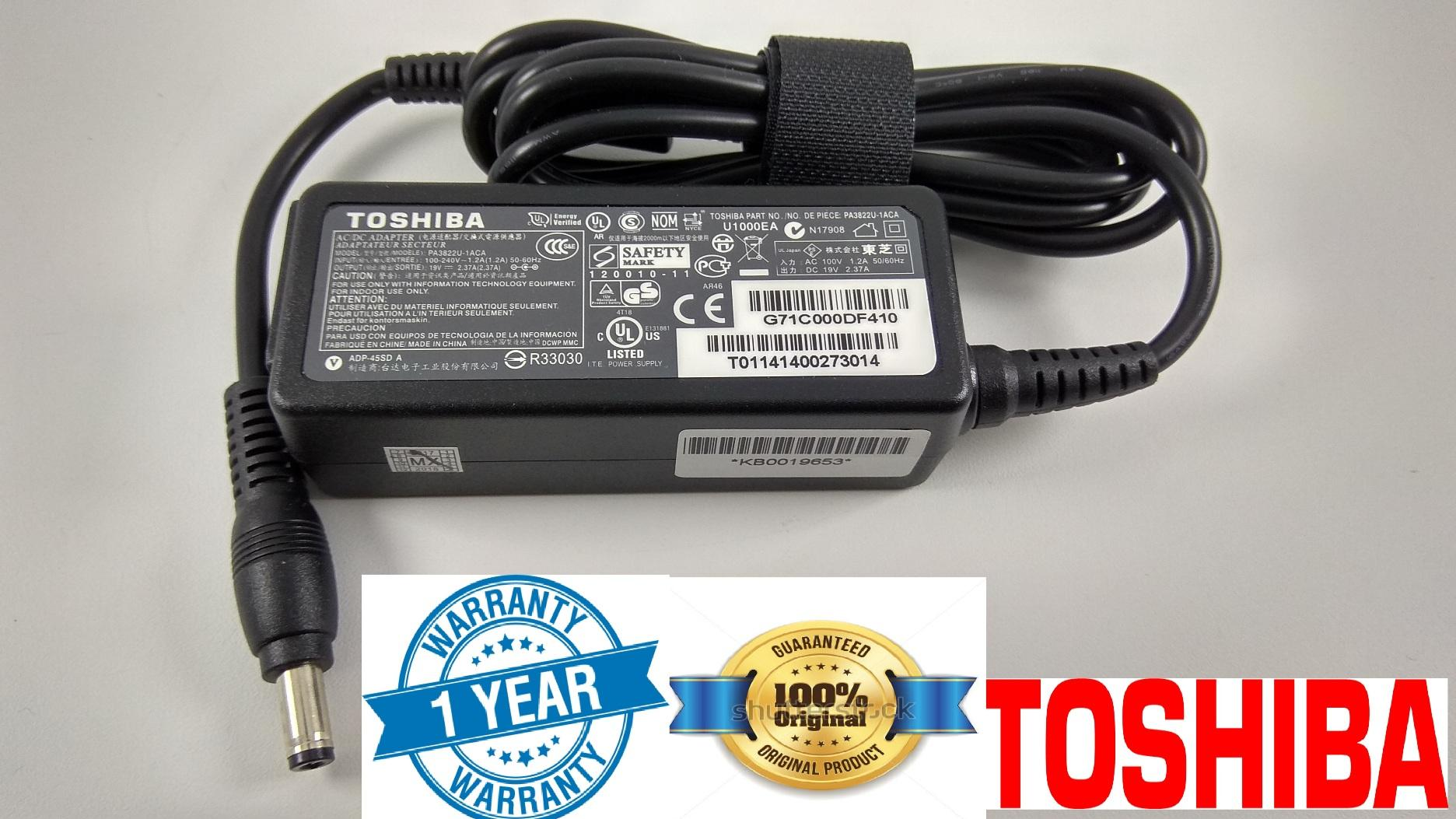 Toshiba Laptop Original Adapter Charger 19V 2.37A ( 45W ) 5.5 * 2.5 mm C660D-185 Toshiba Satellite Pro C660D-187 Toshiba Satellite Pro C660D-1CD Toshiba Satellite Pro C660D-1CE Toshiba Satellite Pro C660D-1D9 Toshiba Satellite SPECIAL