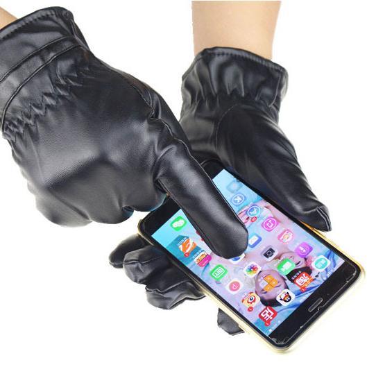 Klikoto Sarung Tangan Motor FULL Kulit - Touchscreen Sensitif Layar Smartphone / Glove Ridding Moto