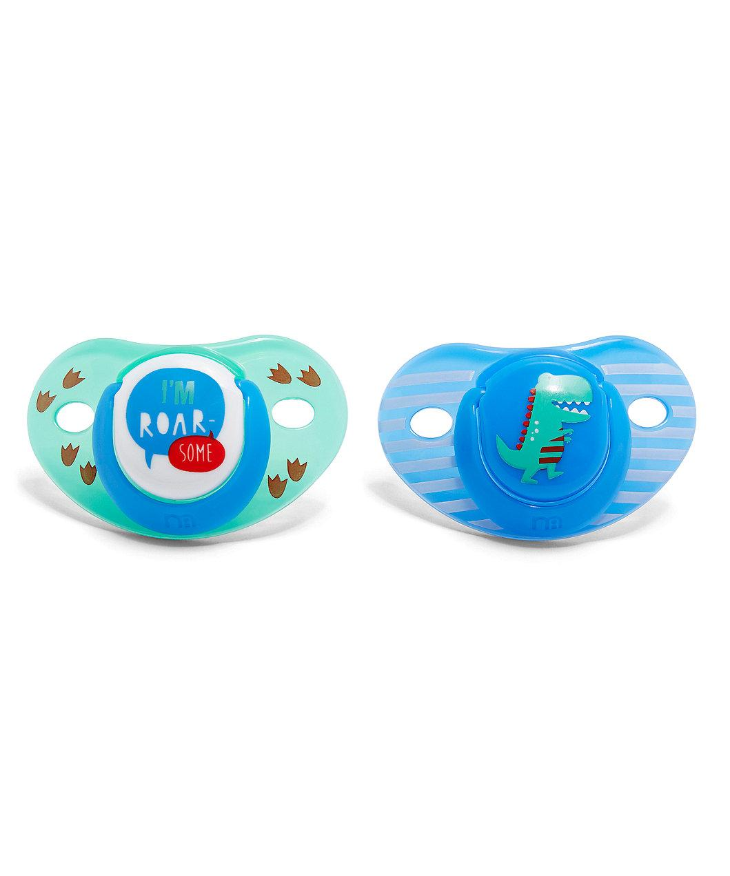 Mothercare Orthodontic Soothers 6 Months+ - Blue (2 Pack)