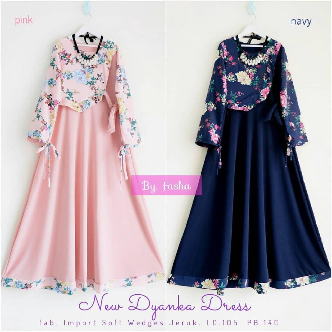 Baju Gamis New Dyanka Dress Muslimah