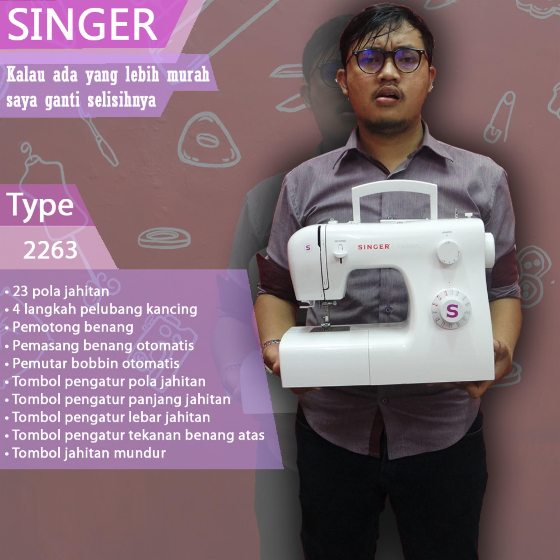 Mesin jahit portable multifungsi SINGER Tradition 2263