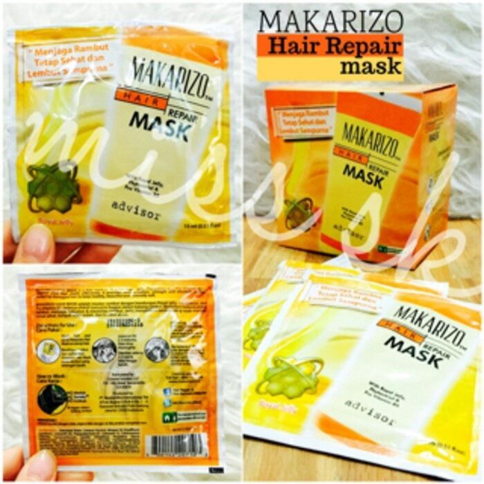 Ecer Sachet Hair Mask Makarizo Repair 15 Ml With Royal Jelly BPOM