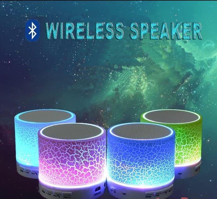 Speaker box Bluetooth LED s10 model kaca retak Speaker box Bluetooth Murah