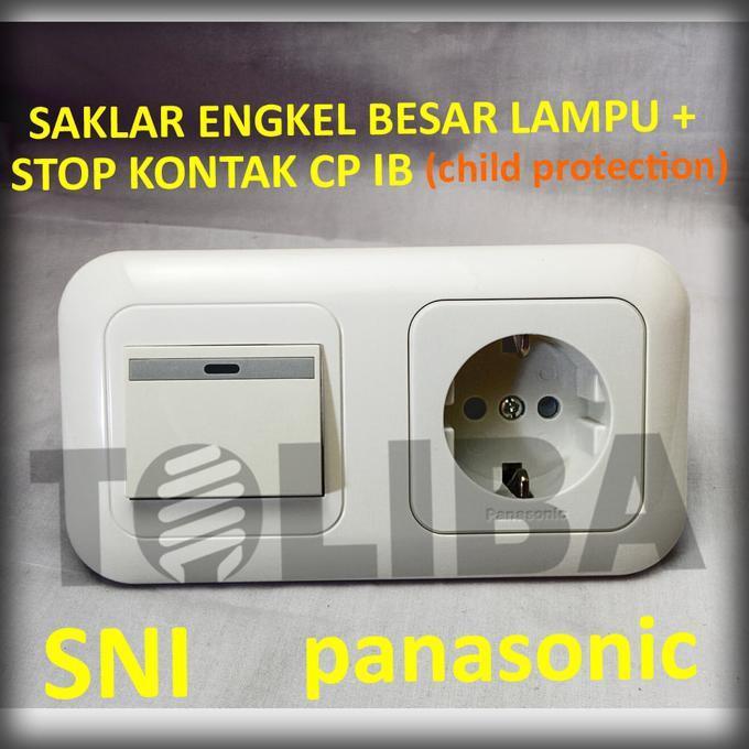 ELEKTRO - STOPKONTAK STOP KONTAK CP + SAKLAR ENGKEL BESAR LAMPU IB PANASONIC SNI - BRUSHSTORES