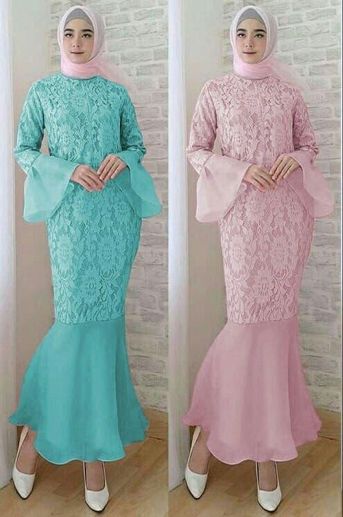 Stellashoppie Dress Duyung Brukat, Dress Mermeid