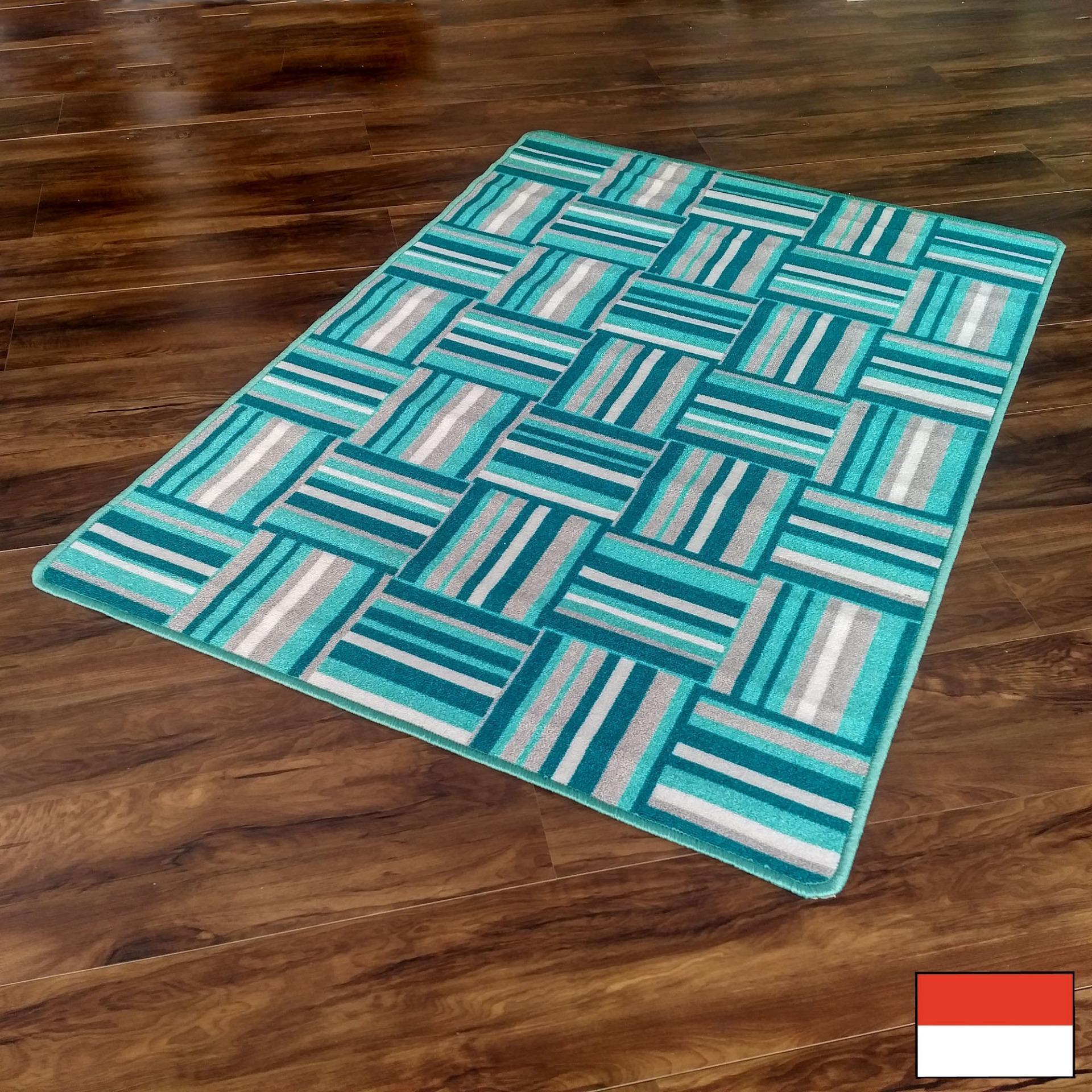 Tren-D-rugs Karpet Permadani Kamar Tidur / Ruang Tamu 100 cm x 140 cm, Bedroom / Living Room Carpet - New Collection Tile