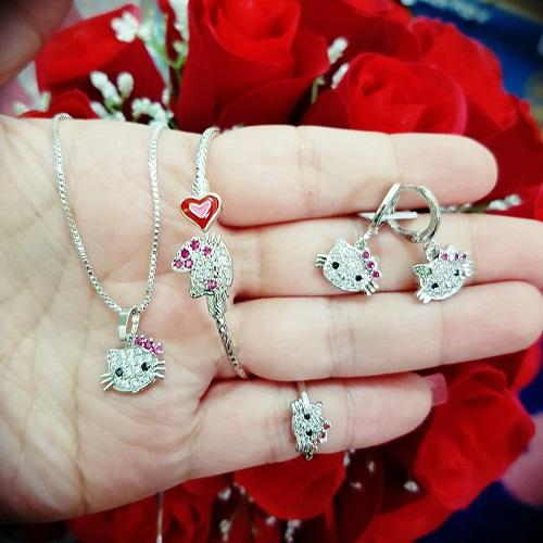 Set Kitty Anak xuping silver