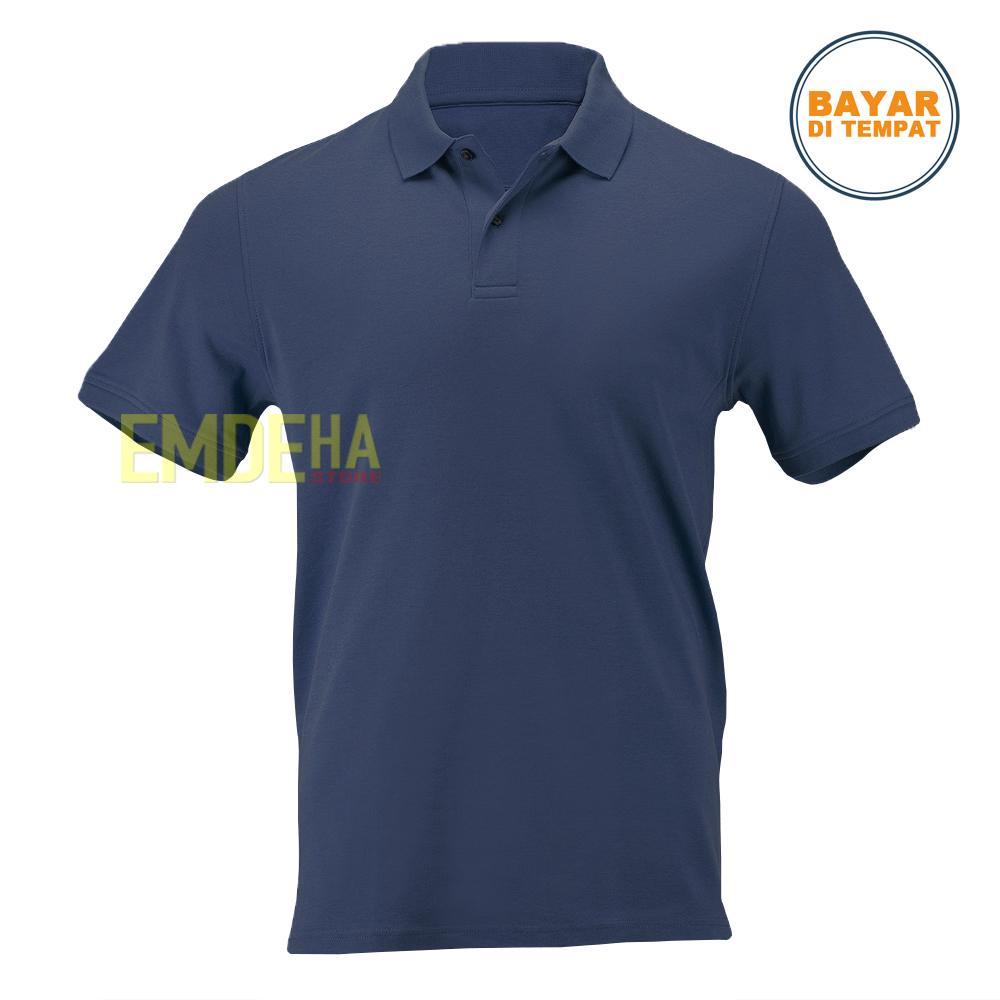 Daftar Harga Kaos Polos Navy Blue Termurah November 2018 Cari Dan Emdeha Store Poloshirt Pendek Kerah Simple Elegant