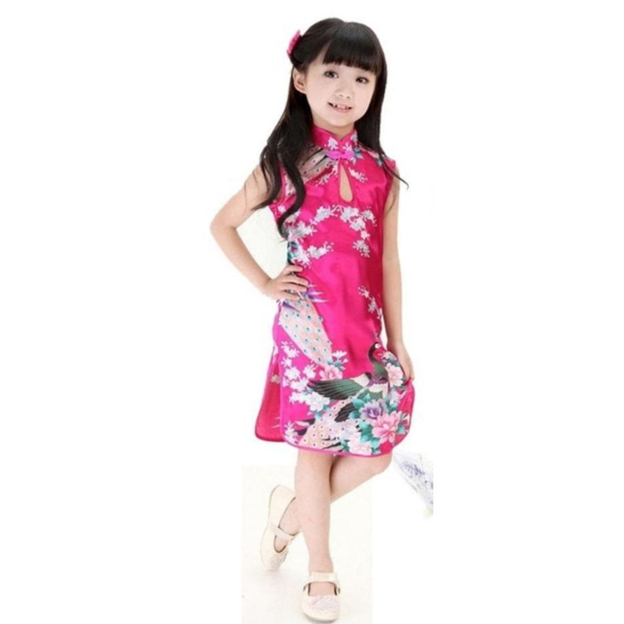 Celine's - Baju Cheongsam Anak Perempuan Import [Pink]