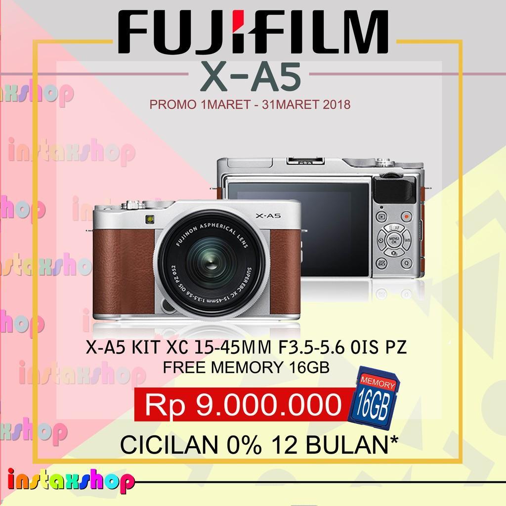 Produk Fujifilm X-A5 XA5 KIT 15-45Mm Kamera Mirrorless (BROWN)