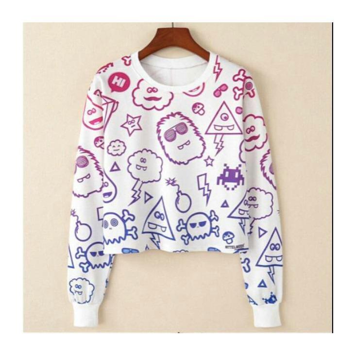 Sweater MONSTER RAMBO CROP HF143 ...