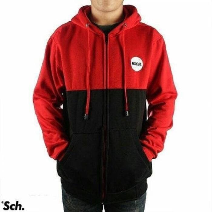 Jaket Rsch maroon hitam sweater pria wanita murah