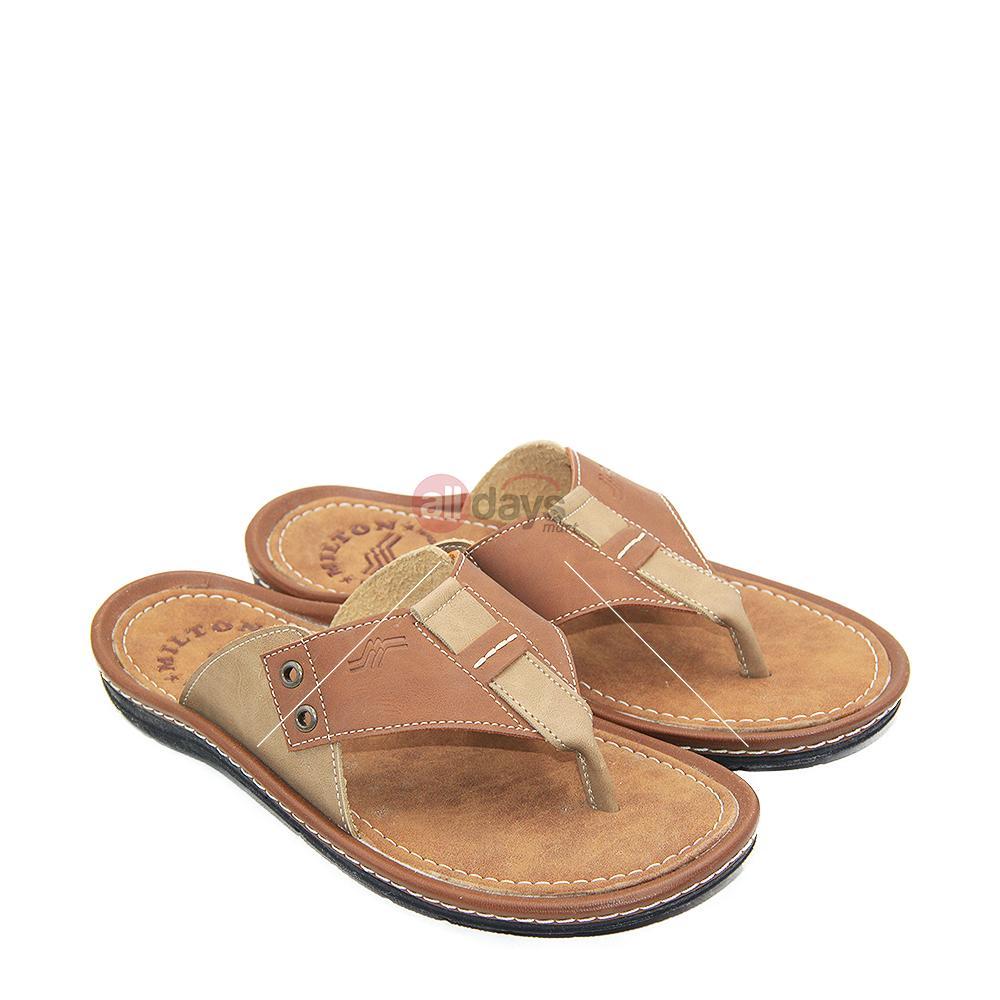 Milton Sandal Jepit / Flip Flop Casual Pria Cruz 305 - Tan/Beige