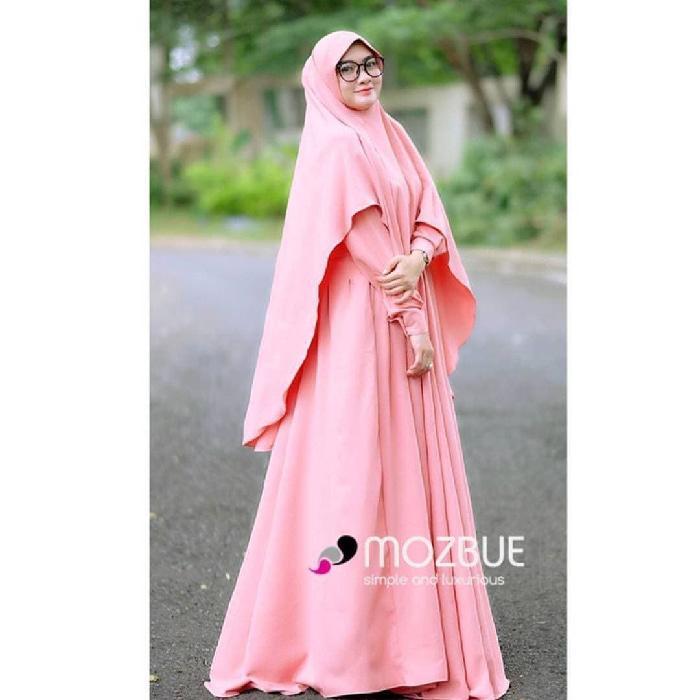 Grosir Baju Murah/Jual Dress Murah/MAORI SYARI SET PEACH C05