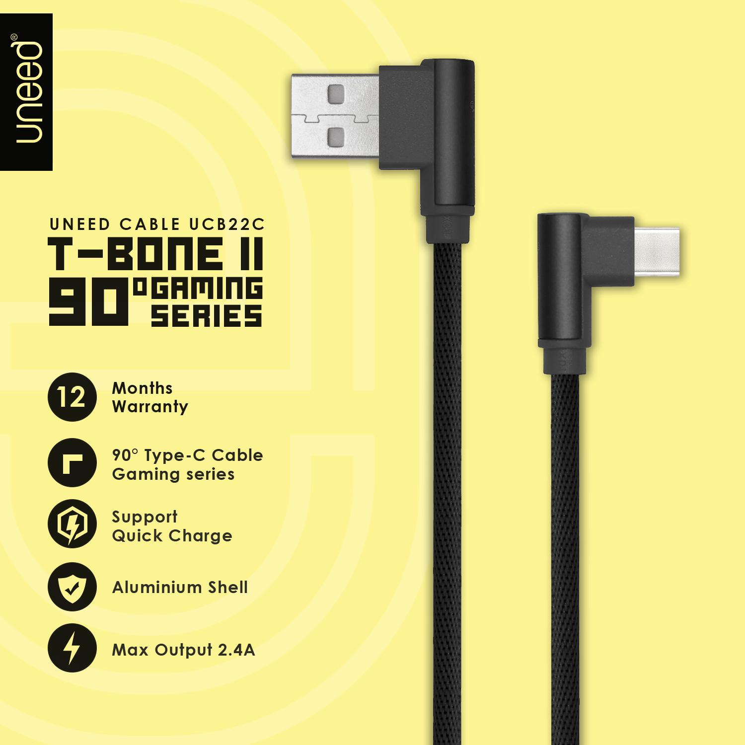 Kelebihan Uneed Gold Plated Kabel Data Type C Quick Charge 3 0 Max Charger Adaptor Delcell 3a Original T Bone Ii Charging Ucb22c