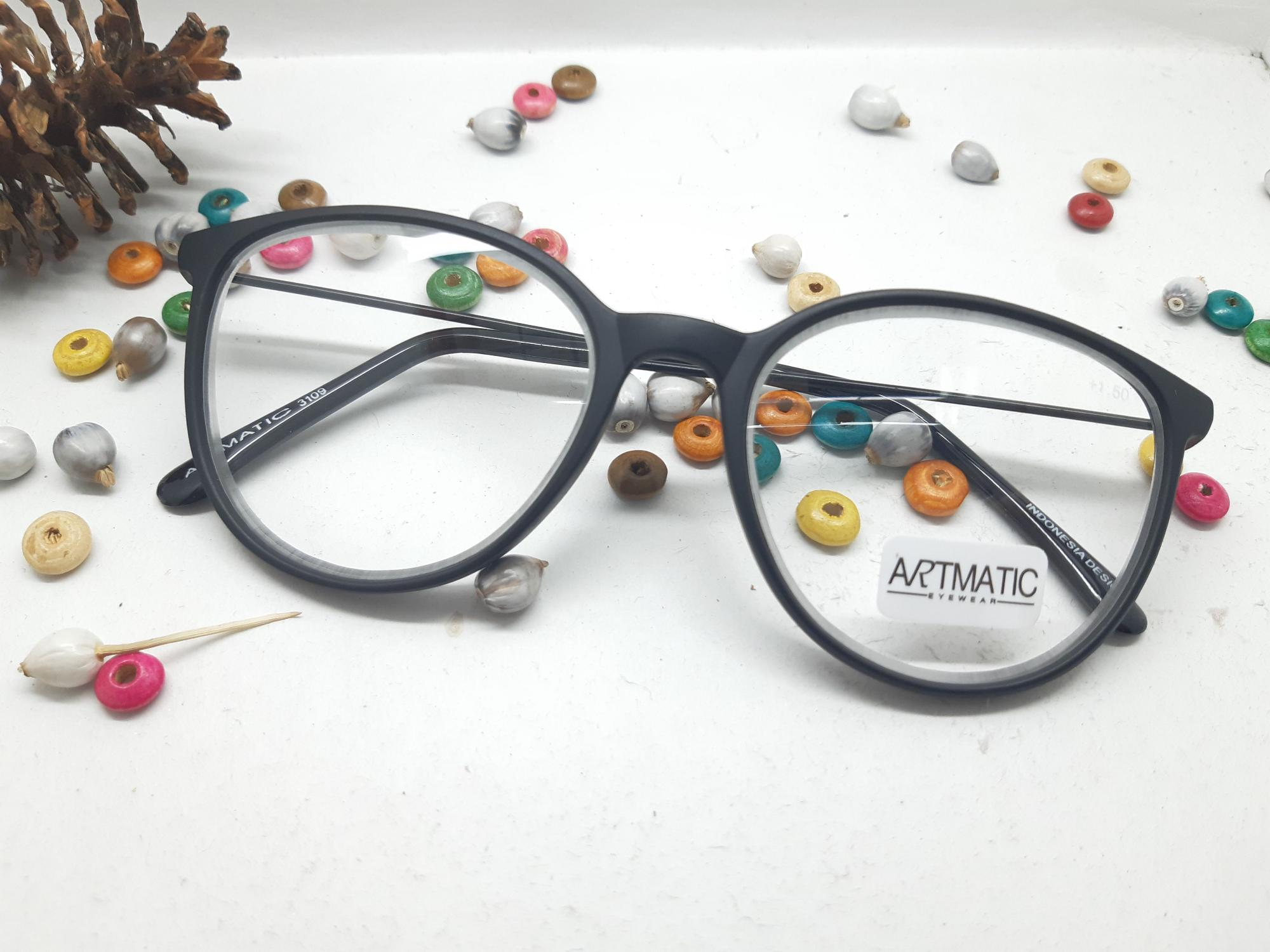 Kacamata Pria Wanita Las Google Buka Tutup Hitam Putih