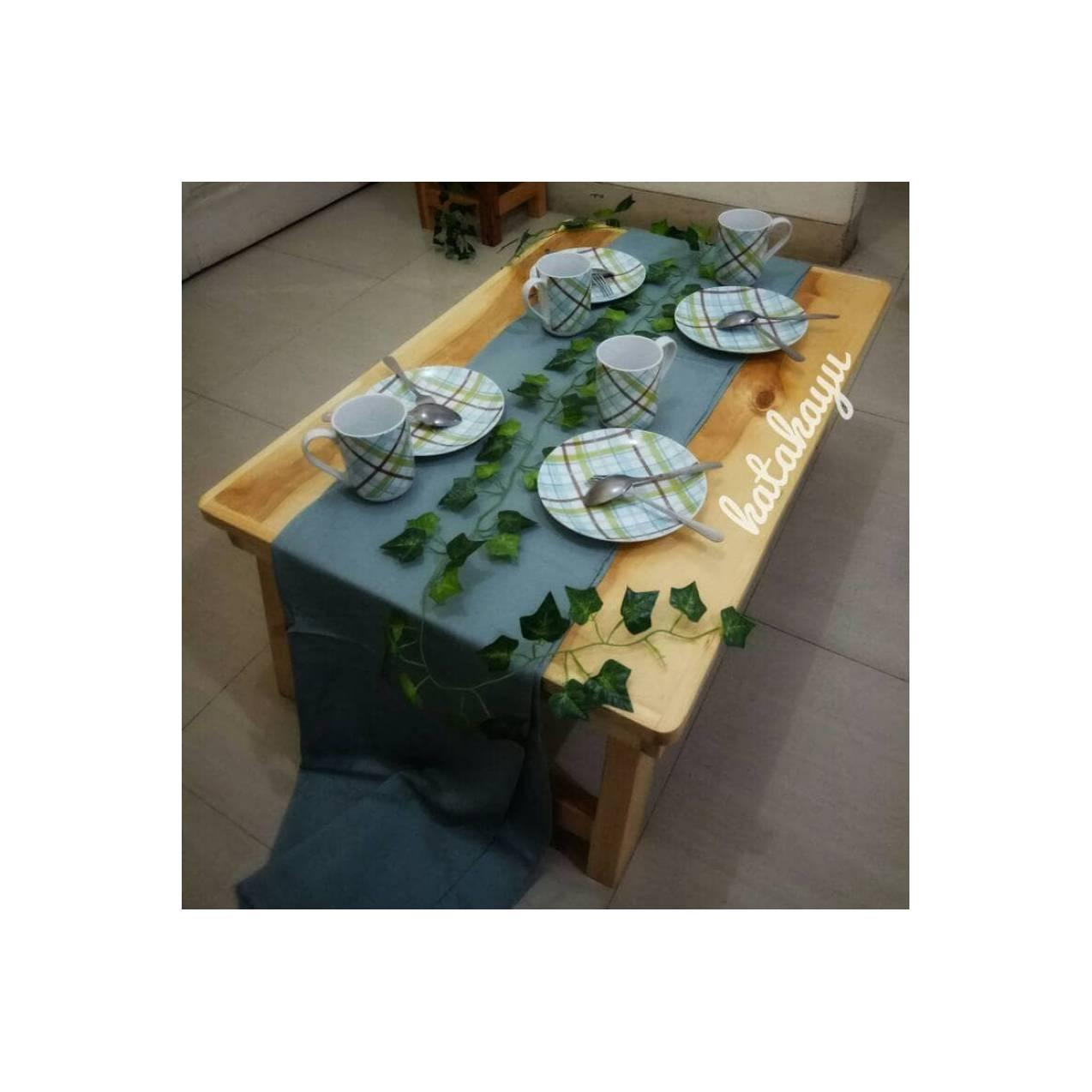 Meja Kayu Lipat Besar ( Meja makan Lesehan )