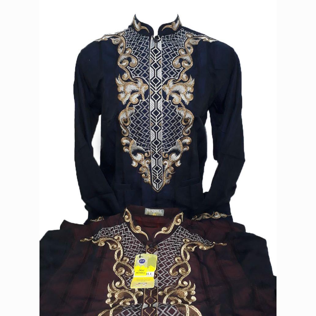 Baju Koko / Kemeja Muslim Pria Lengan Panjang - Merk Benhill - Toko Sumber Rejeki Jeans