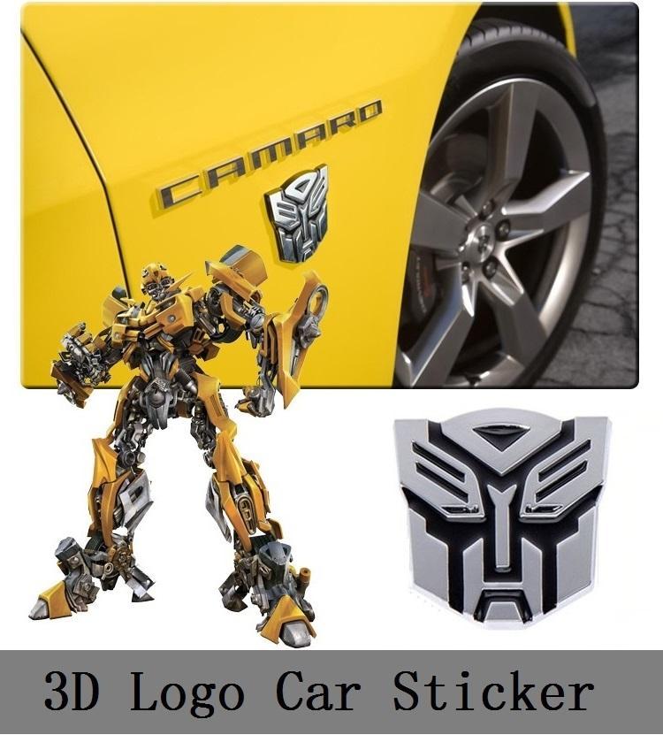 Baru Transformers Autobot Optimus Prime 3D Logo Mobil Emblem Badge Decal Sticker Eksterior Desain Mobil Aksesoris