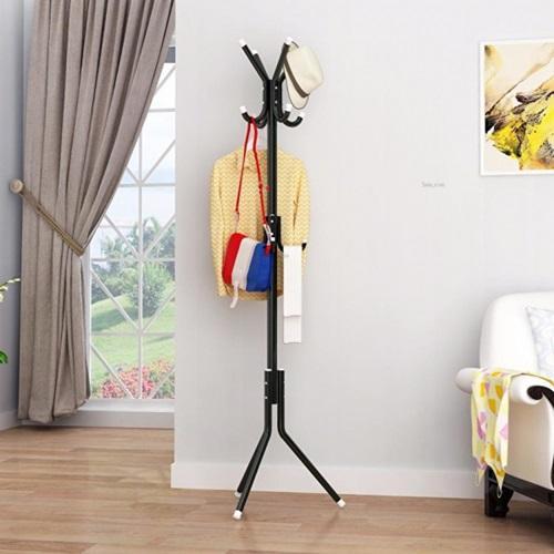 Gambar Produk Rinci Gantungan Baju Standing Hanger / Multifunction Stand Hanger - Hitam Terkini