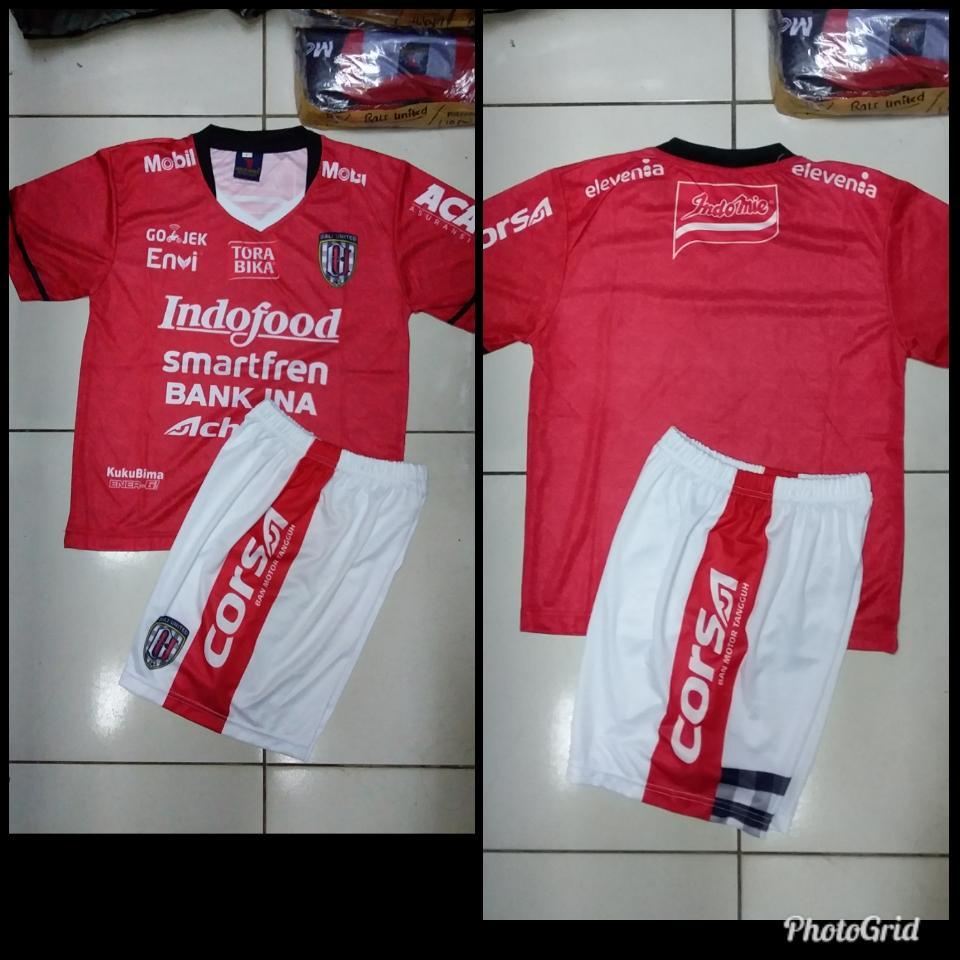 Baju Bola Anak Setelan Kaos jersey Bali united merah