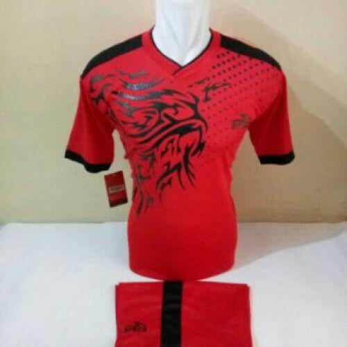 Baju Kaos Jersey Olahraga Setelan Bola Futsal/Volly Spc 02 Merah