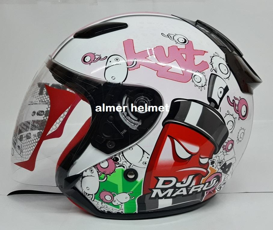 KYT DJ Maru #5 Helm Half Face - Pink