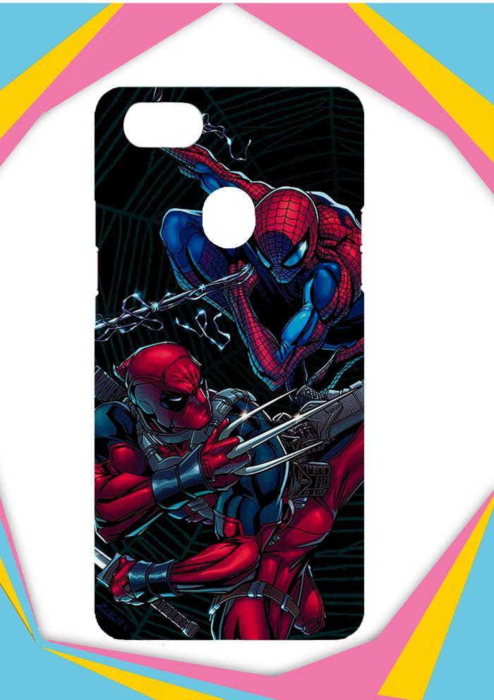 Casing OPPO F7 Custom Hardcase Deadpool Vs SpiderMan Z4228 Case Cover