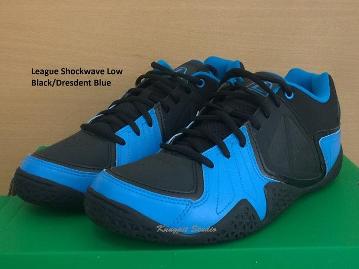 Sepatu Basket original League Shockwave Low Black/Dresdent Blue
