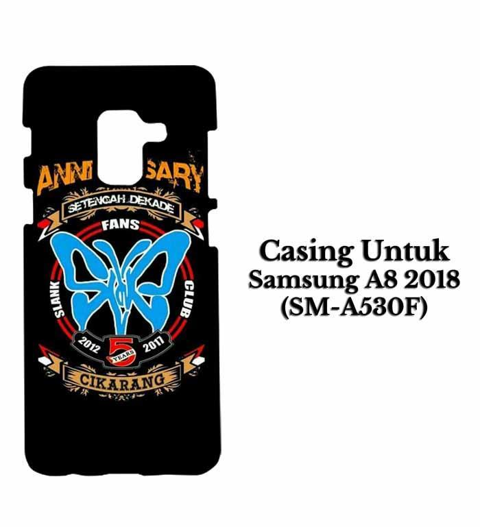 Casing SAMSUNG A8 2018 SLANK CIKARANG Hardcase Custom Case Se7enstores