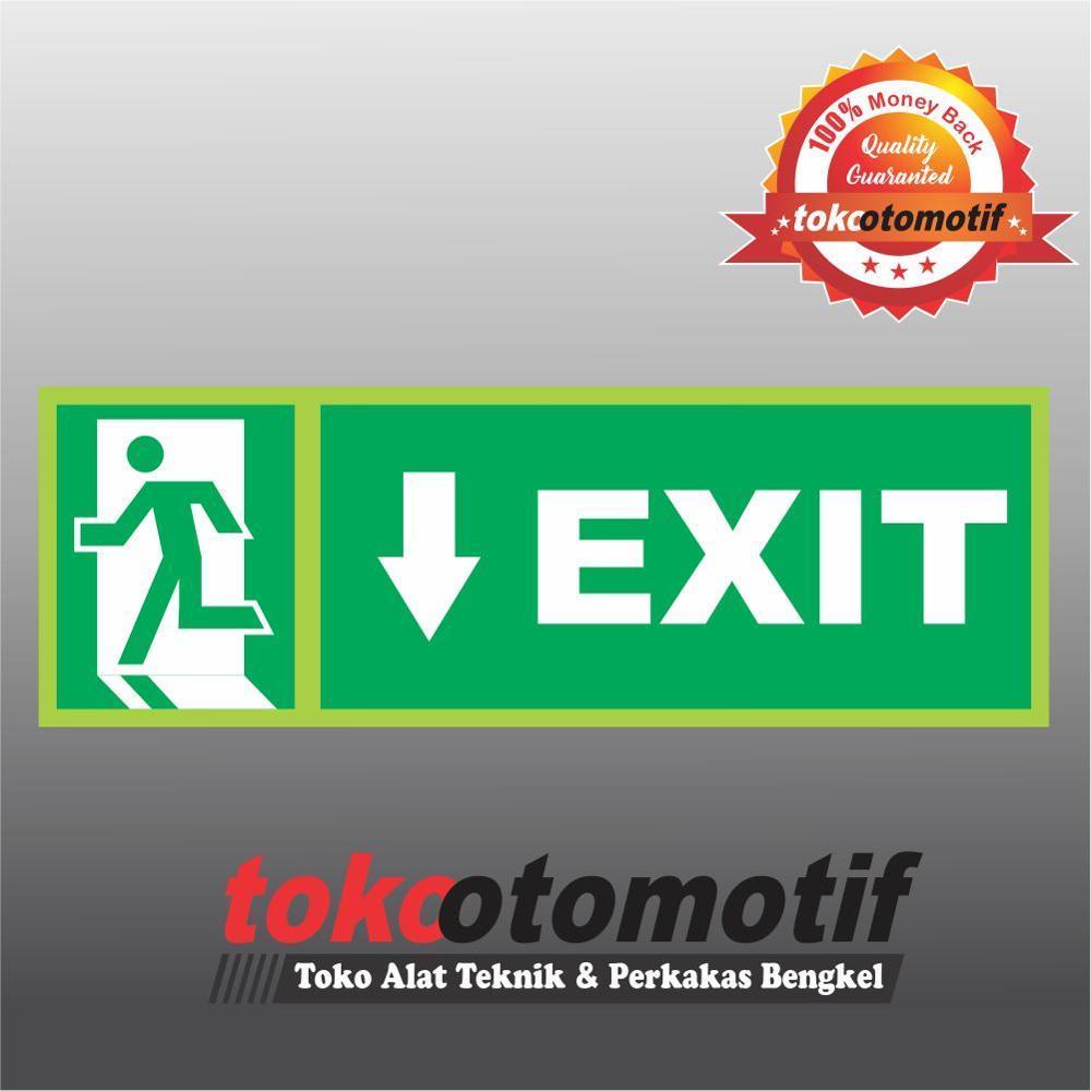 Harga Jual Premium Rompi Safety K3 Dan Logo 135000 Bordir Fist Sticker Sign Tanda Arah Exit Arrow Bottom