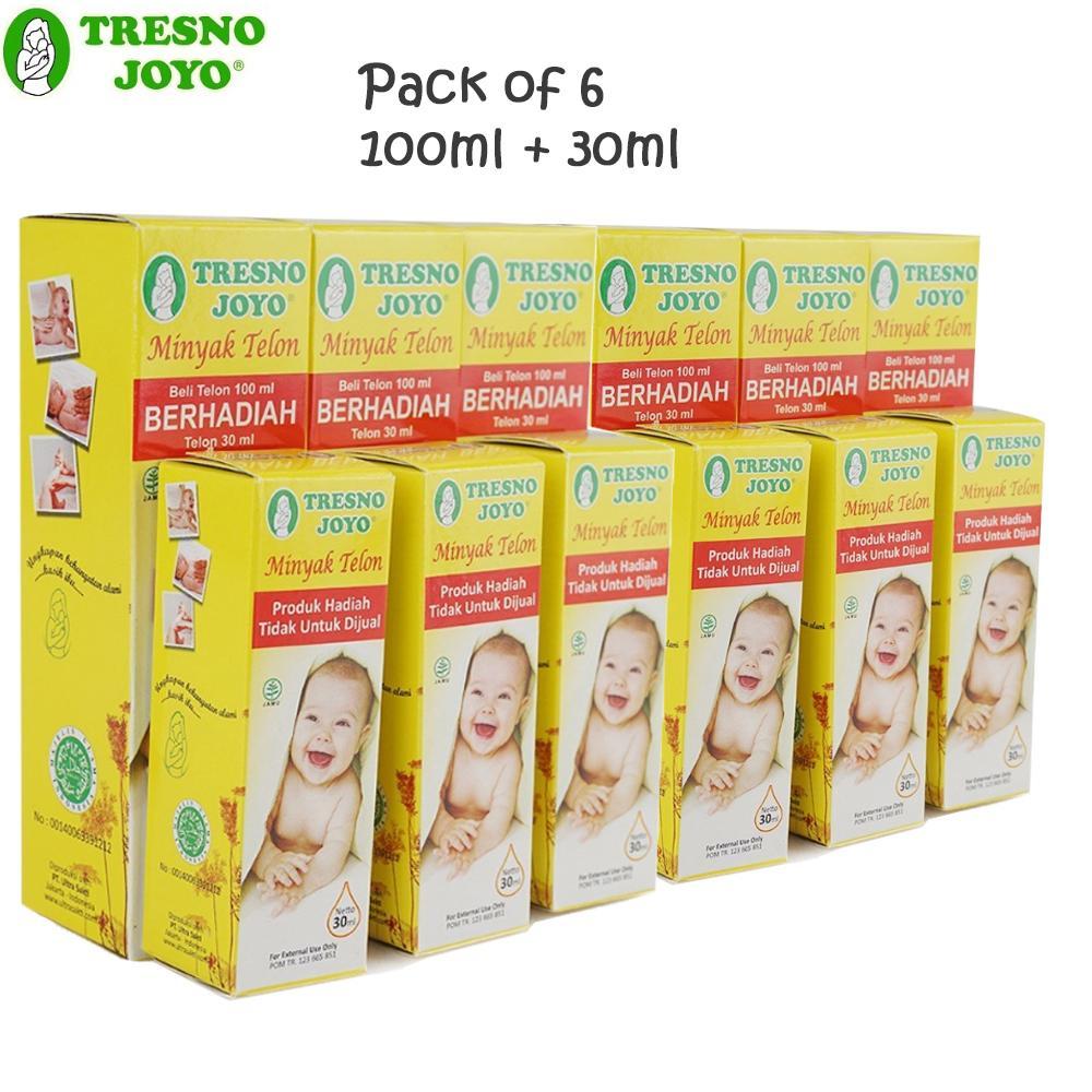 Tresno Joyo Minyak Telon 100 ml (Free Minyak Telon 30 ml) Pack of 6