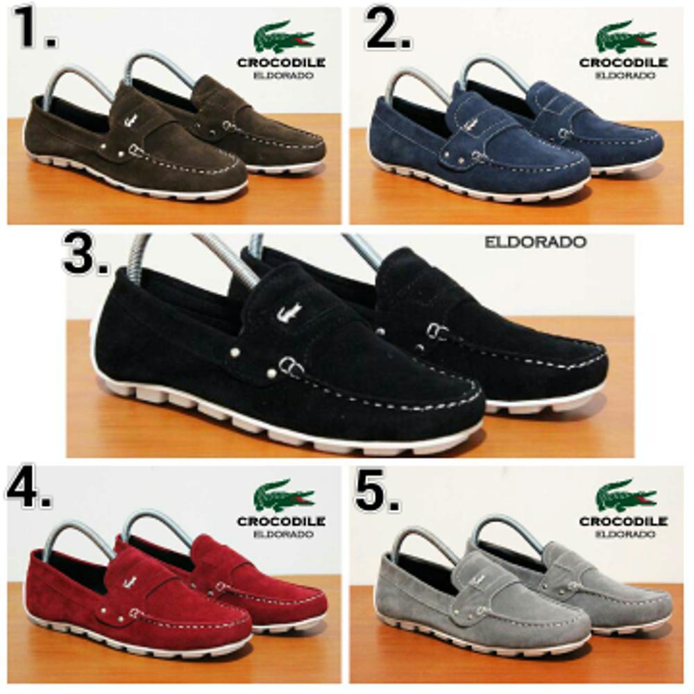 Promo Sepatu Casual pria Crocodile slip on suede (5 pilihan warna bagus) Fashion