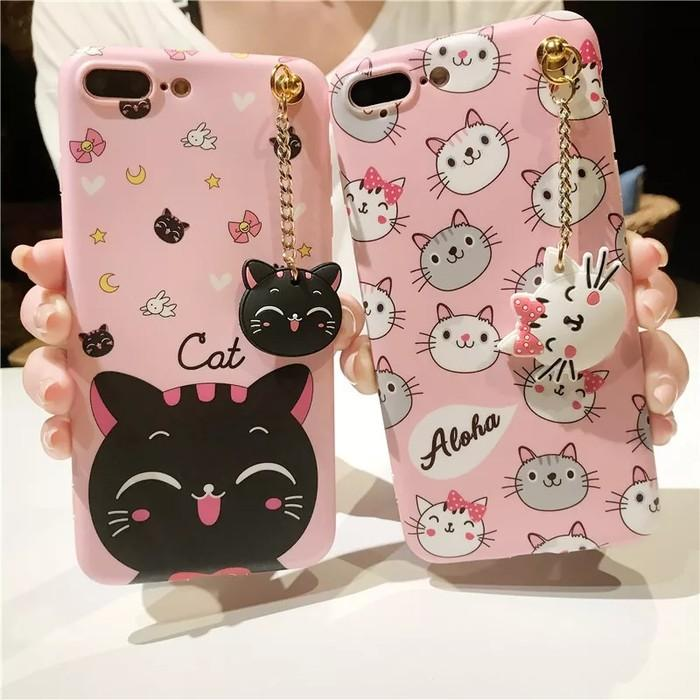 Case Oppo A71 A37 A37f A83 A39 A57 F1s F3 F5 Plus Youth Neo 9 7 Softcase 3D Cat Kucing Kitty Line Cony Aloha Brown Casing