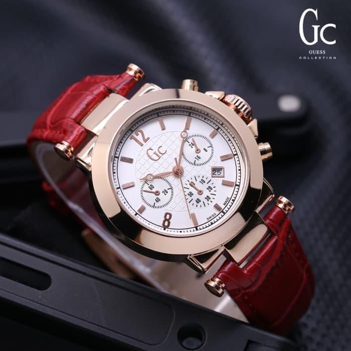 Jam tangan pria/Jam tangan wanita/Jam tangan couple/Jam tangan pria anti air/Jam tangan casio/Jam tangan wanita anti air/Jam tangan pria casio Jam Tangan Wanita GC Kulit Guess Collection