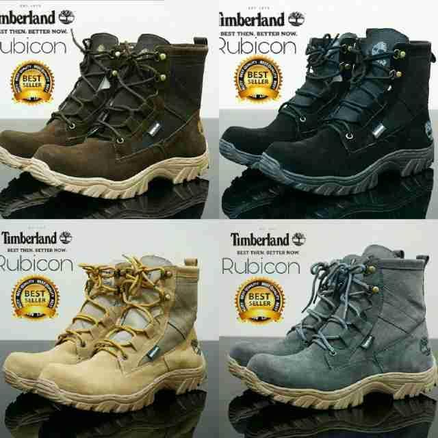 Promo Sepatu Pria Timberland Rubicon Boots Safety Kulit Suede Kerja Proyek Fashion