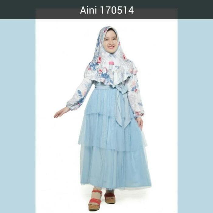 Baju Muslim Anak Perempuan Balita TK SD, Gamis Pesta Anak Aini 170514