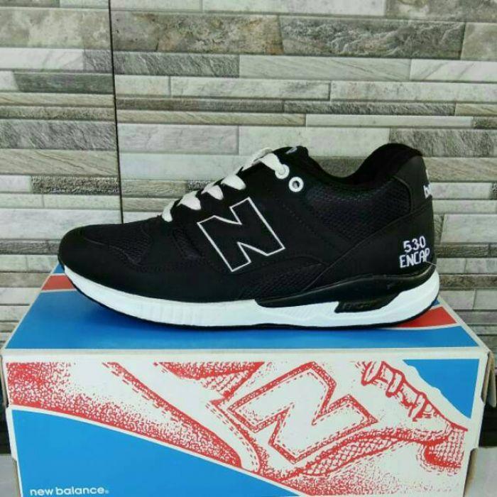 Sepatu Kets Sneakers Pria Casual NB New Balance Hitam Encap Sport Cowok Murah