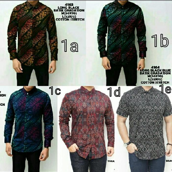 Baju Kemeja Pria Songket Batik Hijau Tosca Keren Gaya Trendy - Hldu8l