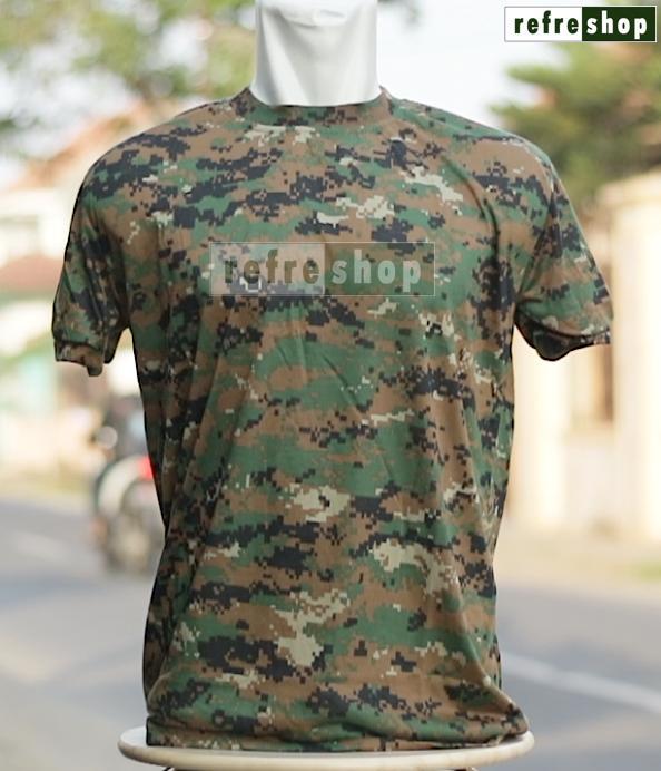 Rp 29.000. Kaos Army Loreng Lembut Nyaman Digital Marpat Tactical Militer ...