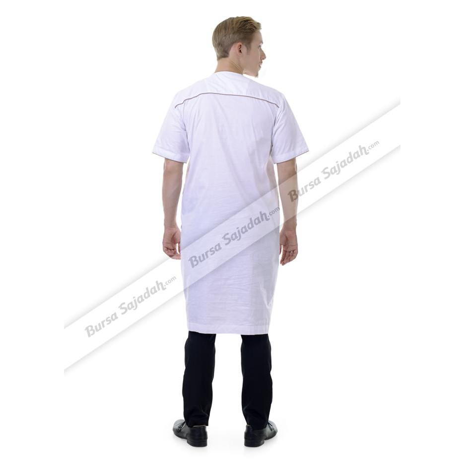 Baju Busana Koko Muslim Gamis Laki Laki Warna Putih - Afkar Sykava  Ghtsyh