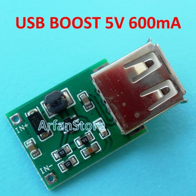 PROMO USB DC Step Up Boost 5V 600Ma Input 0.9-5V Booster Charger Cas HP