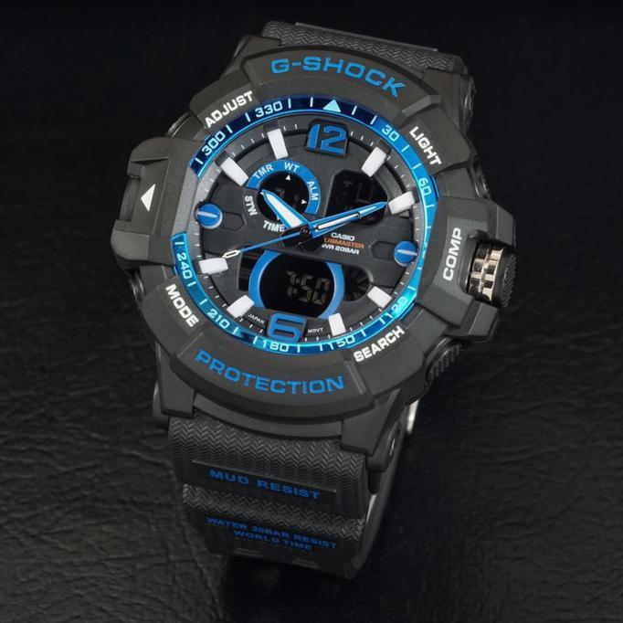 G Shock Gwa 1045 Lis Biru Black Hitam Gshock Gwa1045 Jam Tangan Pria - Timewatch