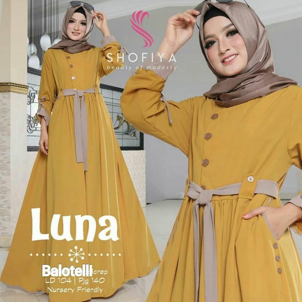 baju muslim wanita terbaru/ gamis wanita muslimah/ baju muslim wanita/ gamis cantik