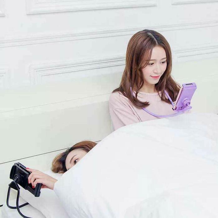 ... LAZY HANGING NECK PHONE HOLDER LEHER HP LAZYPOD LAZY NECK POD - 3 ...