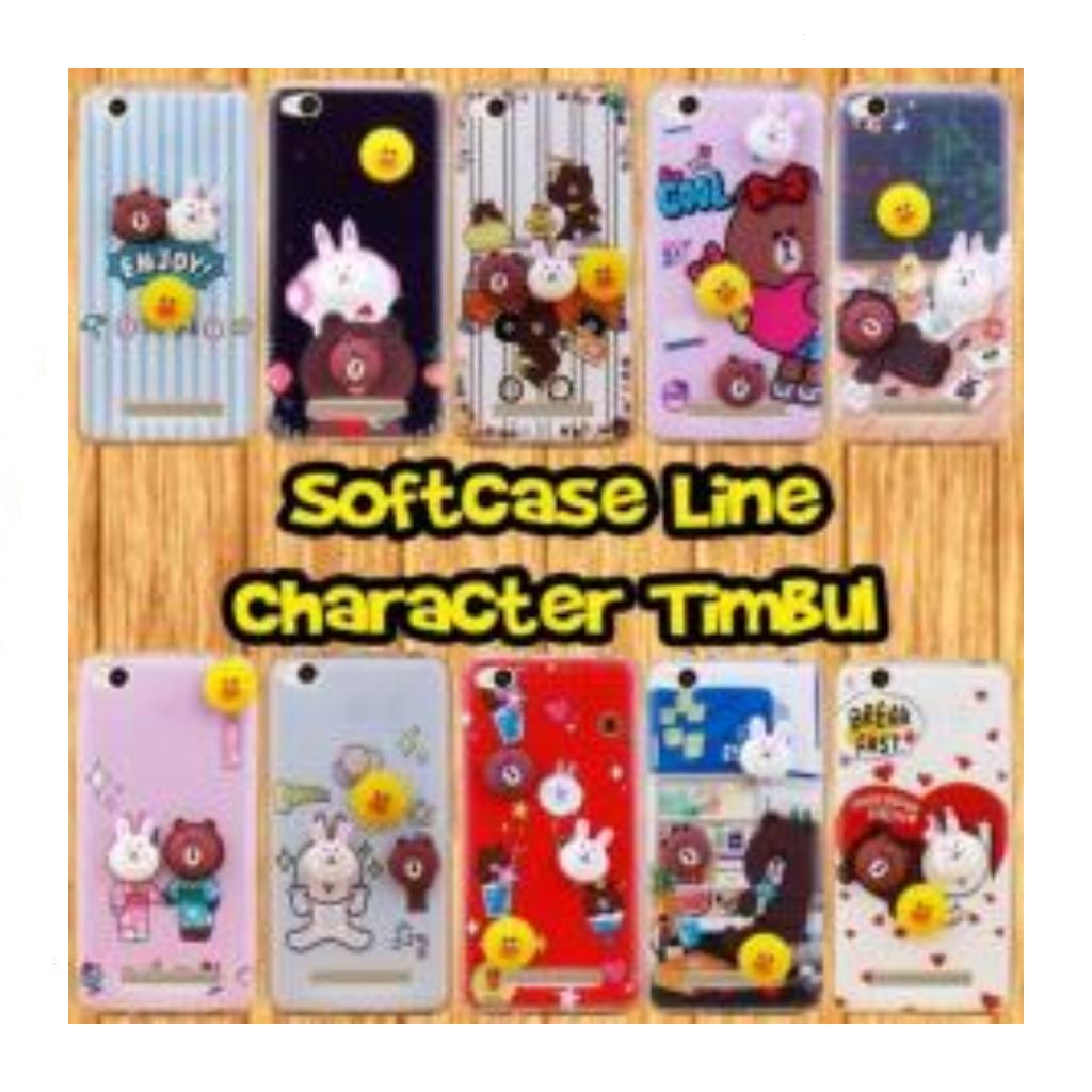 Case Samsung Galaxy Grand Prime(SM-G530) Softcase Line Character Timbul Gratis Tempered