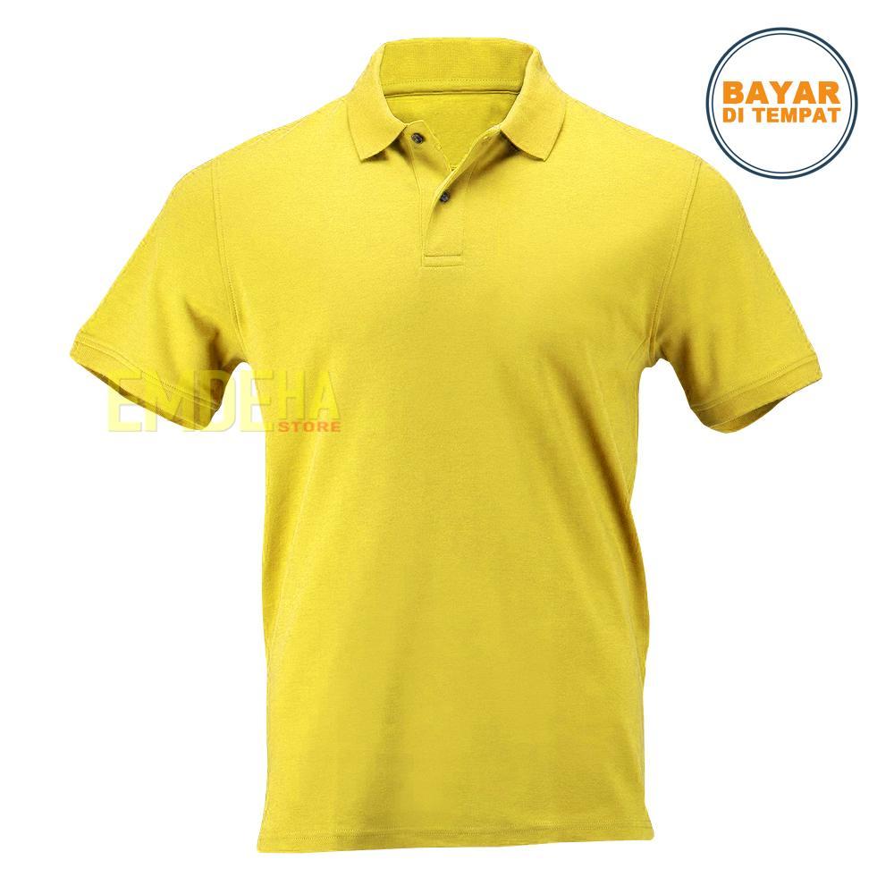 Emdeha Store - Poloshirt Pendek Polos Kaos Kerah Simple Dan Elegant