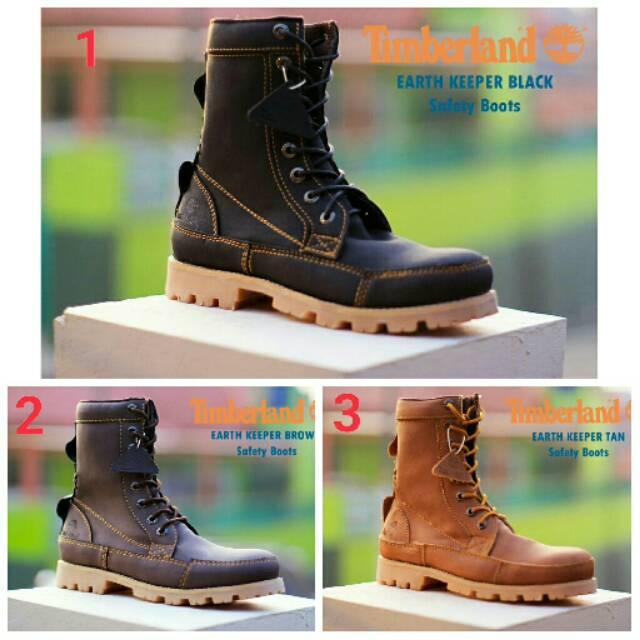 Sepatu boots pria timberland earth safety